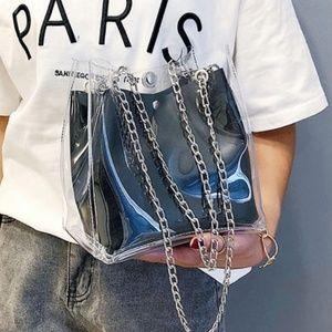 Handbags - Transparent Shoulder/Tote Bag